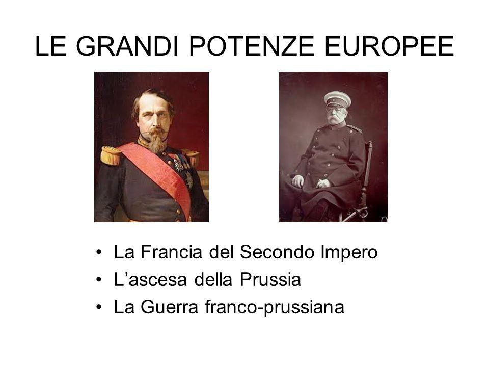 LE GRANDI POTENZE EUROPEE La Francia del Secondo Impero L'ascesa della Prussia La Guerra franco-prussiana