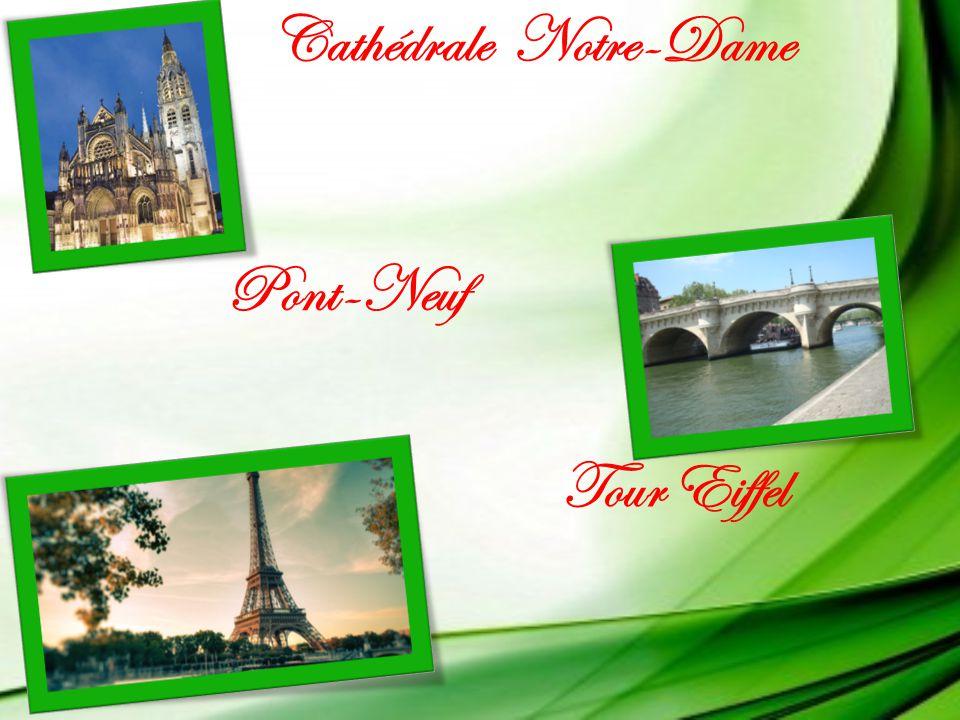 Cathédrale Notre-Dame Pont-Neuf Tour Eiffel