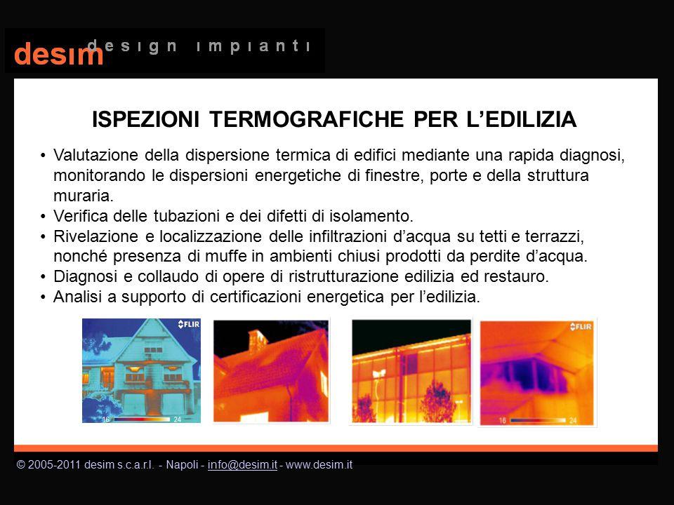 © 2005-2011 desim s.c.a.r.l. - Napoli - info@desim.it - www.desim.itinfo@desim.it Valutazione della dispersione termica di edifici mediante una rapida