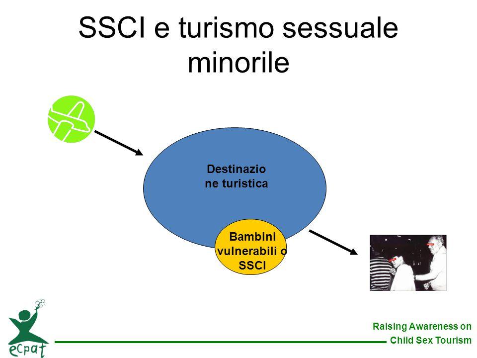 Raising Awareness on Child Sex Tourism SSCI e turismo sessuale minorile Destinazio ne turistica Bambini vulnerabili o SSCI