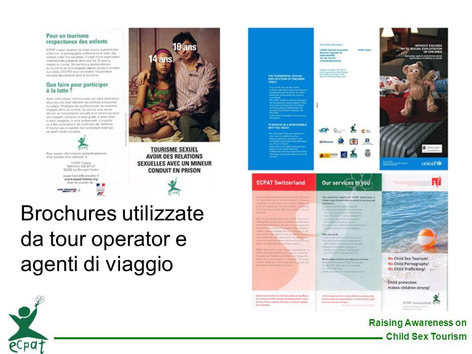 Raising Awareness on Child Sex Tourism Brochures utilizzate da tour operator e agenti di viaggio