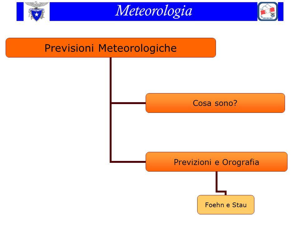 Previsioni Meteorologiche Cosa sono? Previzioni e Orografia Foehn e Stau