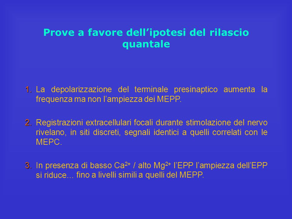 L'analisi quantale degli EPP