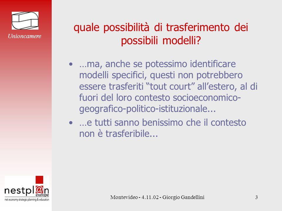 Montevideo - 4.11.02 - Giorgio Gandellini3 quale possibilità di trasferimento dei possibili modelli.