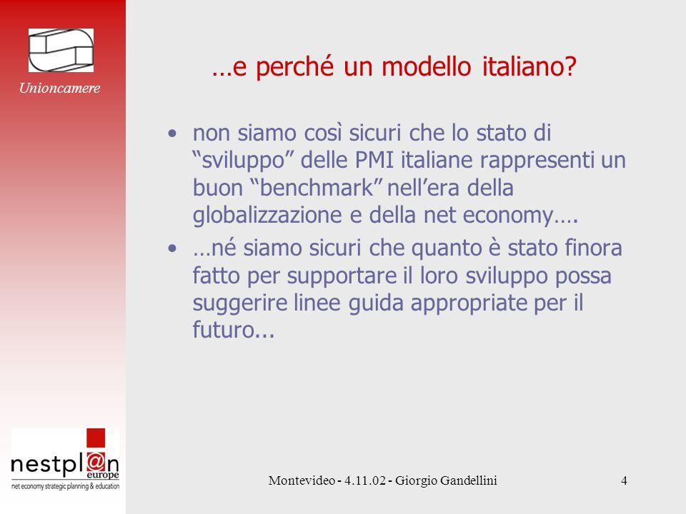 Montevideo - 4.11.02 - Giorgio Gandellini4 …e perché un modello italiano.