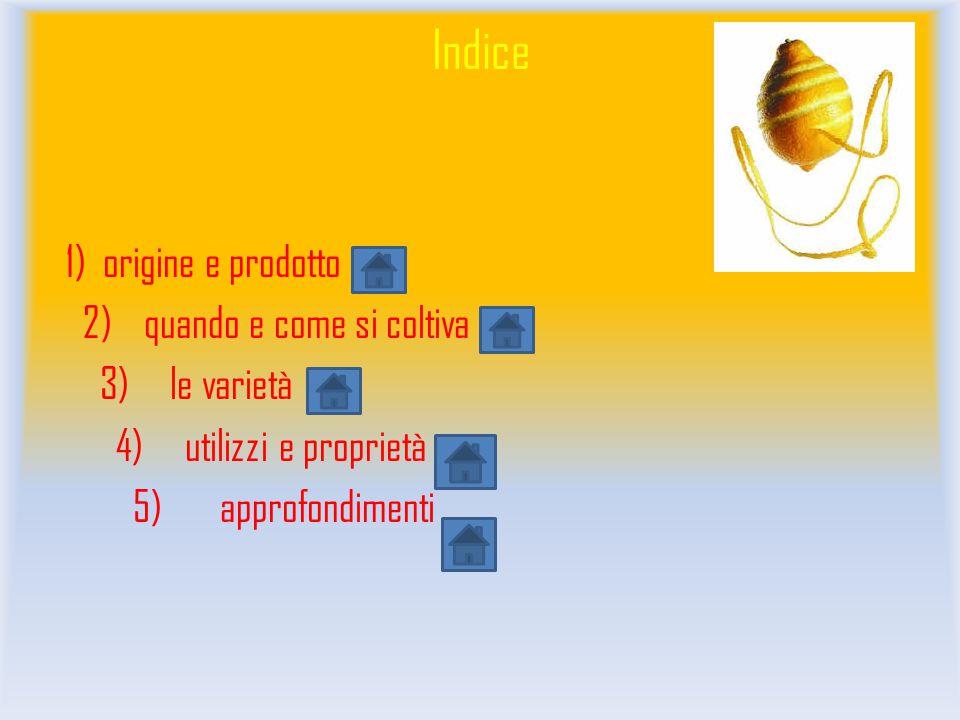 Indice 1) origine e prodotto 2) quando e come si coltiva 3) le varietà 4) utilizzi e proprietà 5) approfondimenti