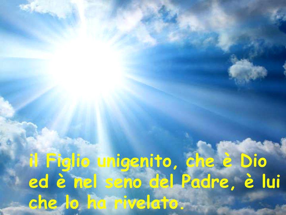 il Figlio unigenito, che è Dio ed è nel seno del Padre, è lui che lo ha rivelato.