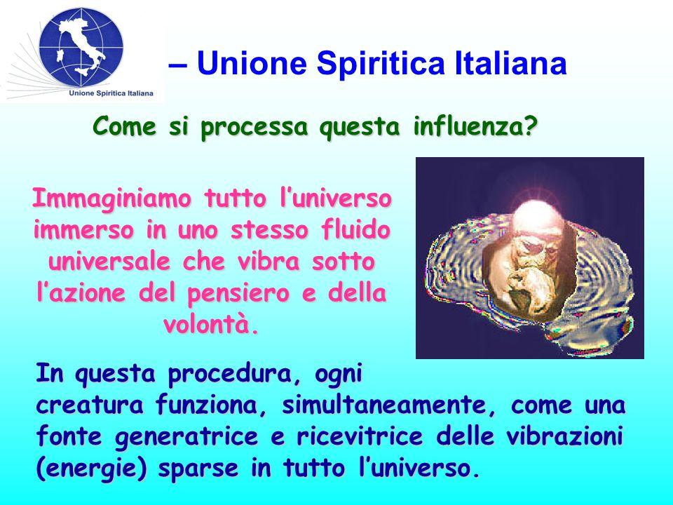 USI – Unione Spiritica Italiana Come si processa questa influenza.