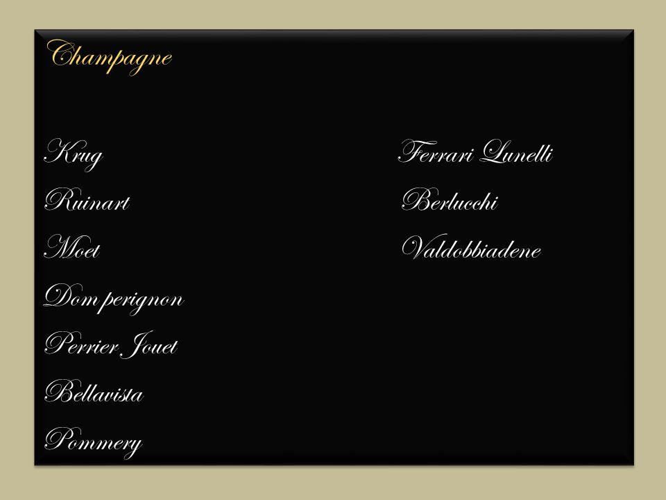Champagne Krug Ferrari Lunelli Ruinart Berlucchi Moet Valdobbiadene Dom perignon Perrier Jouet Bellavista Pommery Champagne Krug Ferrari Lunelli Ruinart Berlucchi Moet Valdobbiadene Dom perignon Perrier Jouet Bellavista Pommery
