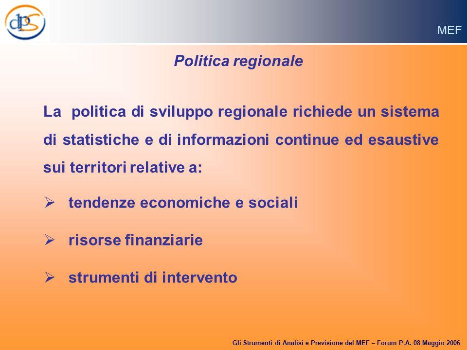 MEF Gli Strumenti di Analisi e Previsione del MEF – Forum P.A.