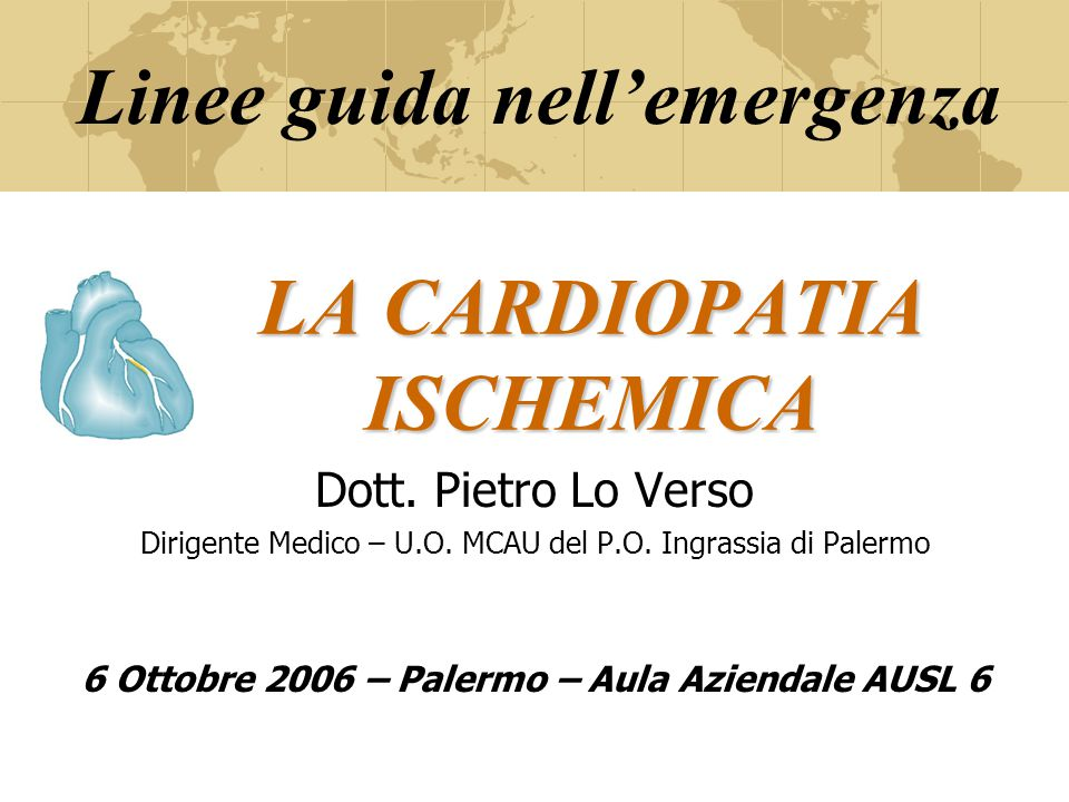 Fisiopatologia L'ischemia miocardica è causata dalla sperequazione tra il flusso disponibile di sangue e il consumo miocardio di O2