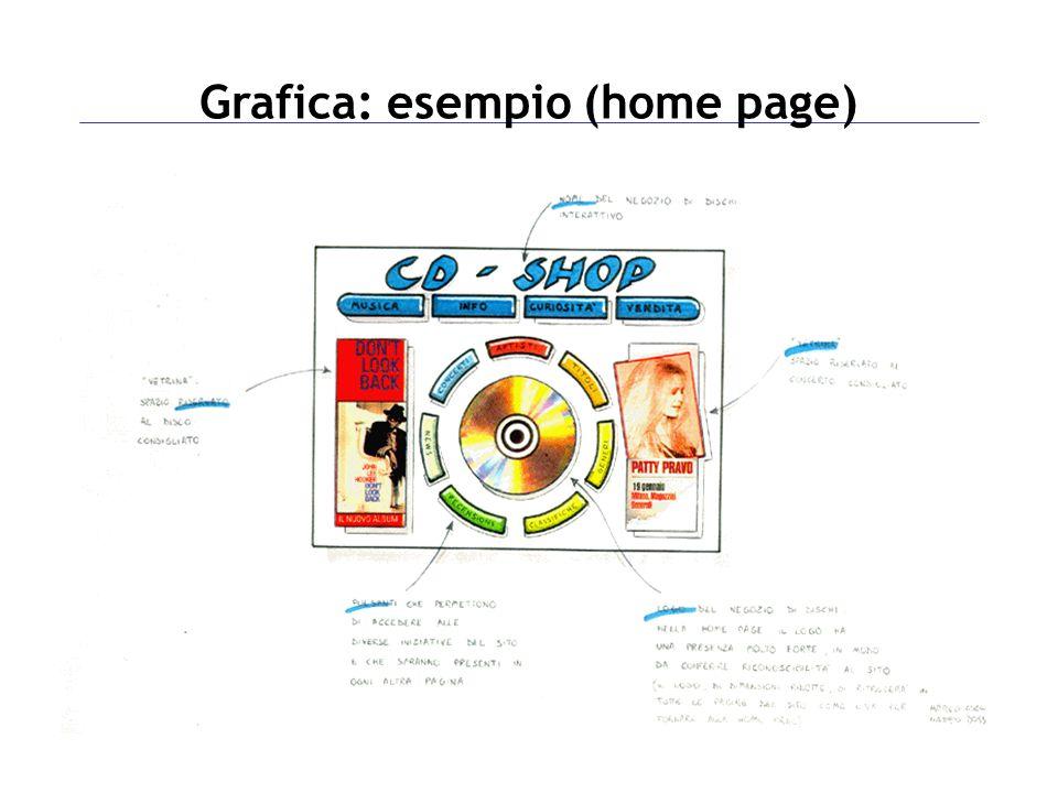 Grafica: esempio (home page)