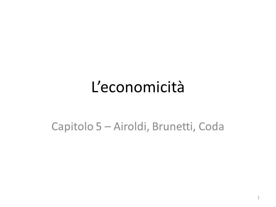 L'economicità Capitolo 5 – Airoldi, Brunetti, Coda 1
