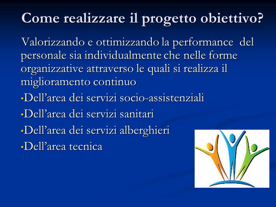 Come realizzare il progetto obiettivo? Valorizzando e ottimizzando la performance del personale sia individualmente che nelle forme organizzative attr