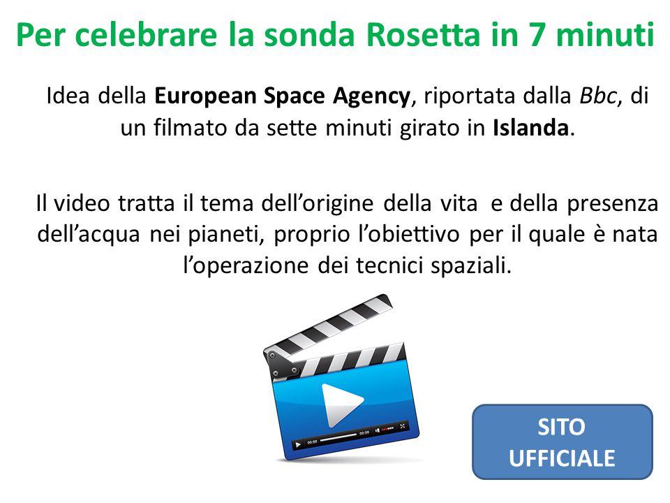 Idea della European Space Agency, riportata dalla Bbc, di un filmato da sette minuti girato in Islanda.