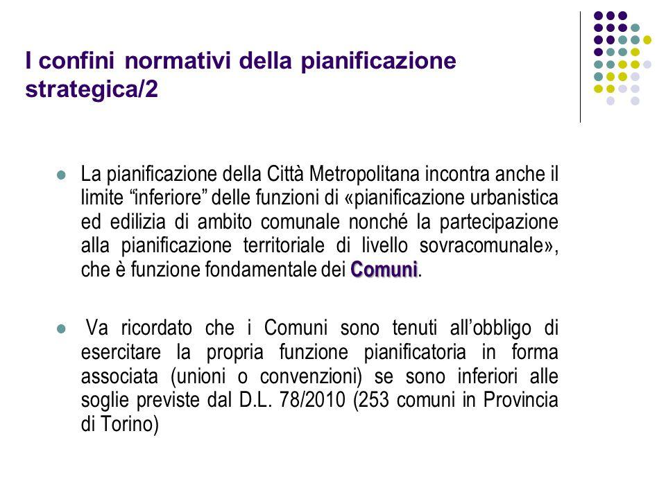 """I confini normativi della pianificazione strategica/2 Comuni La pianificazione della Città Metropolitana incontra anche il limite """"inferiore"""" delle fu"""