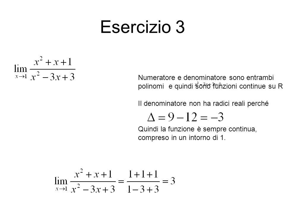 Il calcolo dei limiti nelle funzioni razionali I punti interni