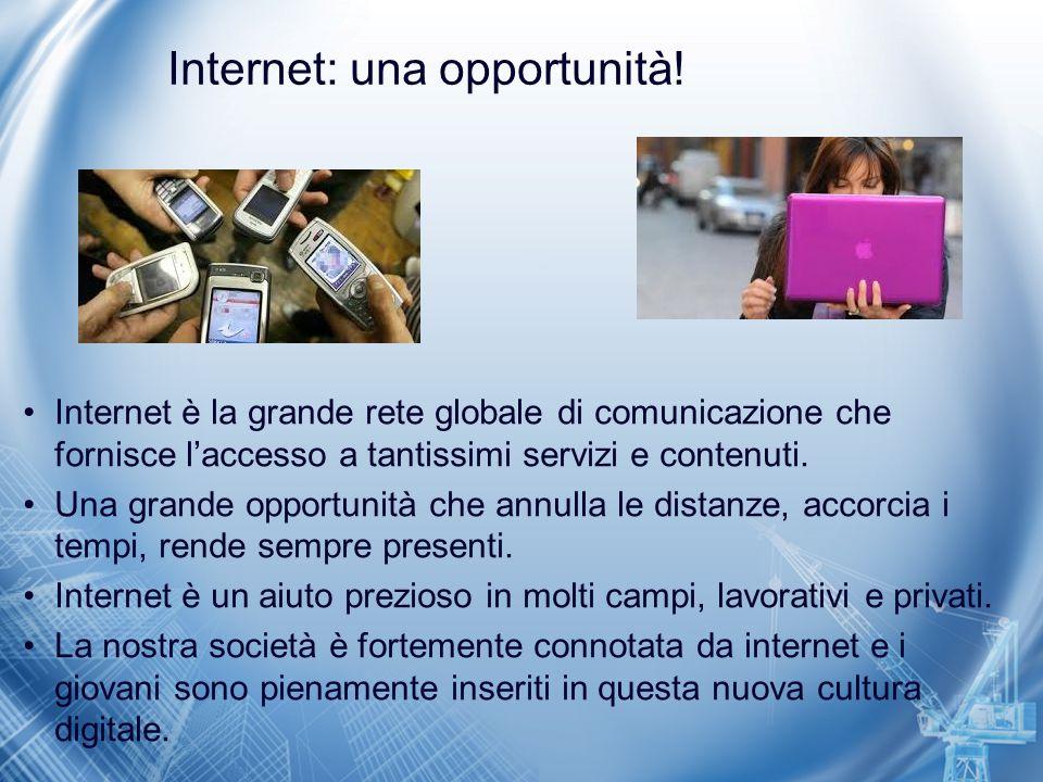 Internet per… Principali servizi e contenuti: –WWW World Wide Web, l'insieme di tutti gli ipertesti e ipermedia che sono presenti nella rete.