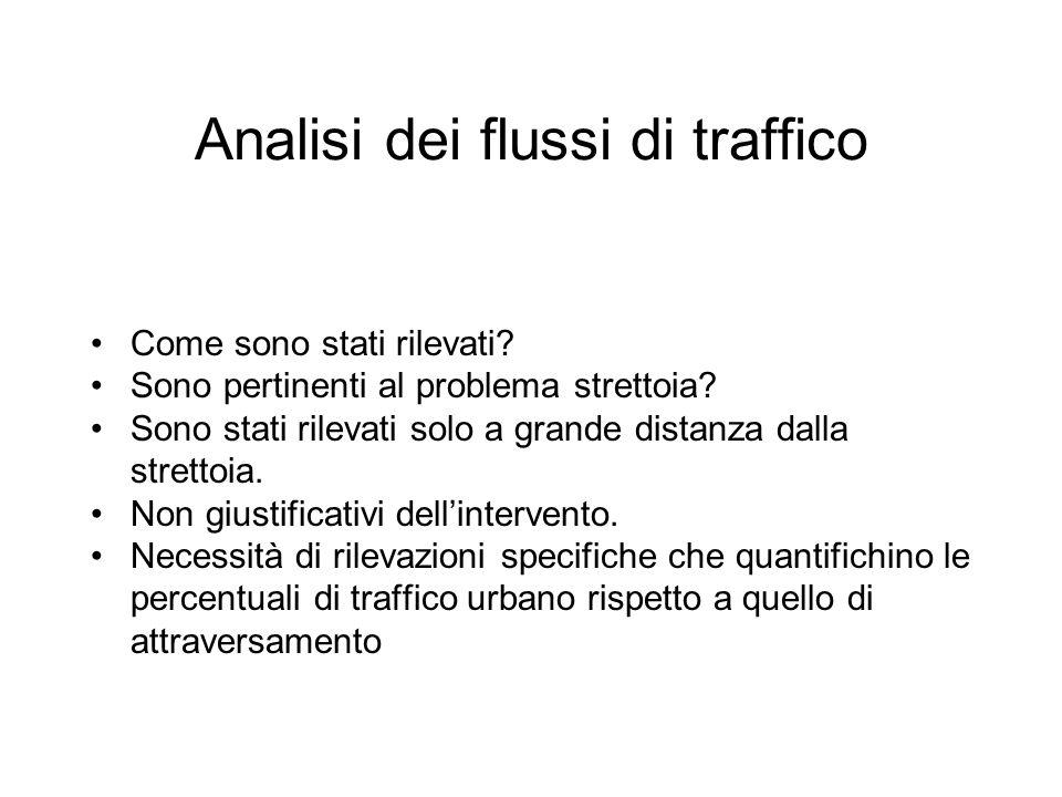 Analisi dei flussi di traffico Come sono stati rilevati.