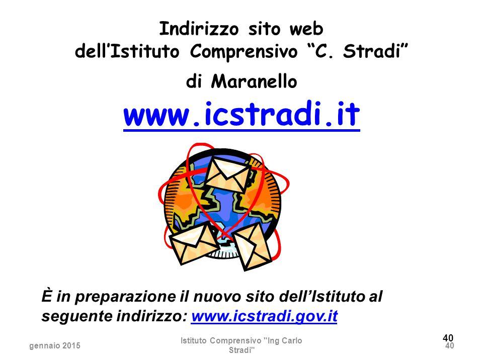 40 Indirizzo sito web dell'Istituto Comprensivo C.