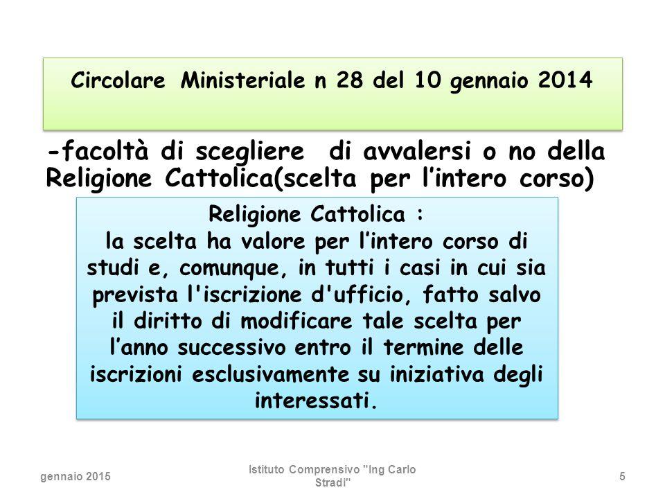 gennaio 2015 Istituto Comprensivo Ing Carlo Stradi 36 Aula Musica