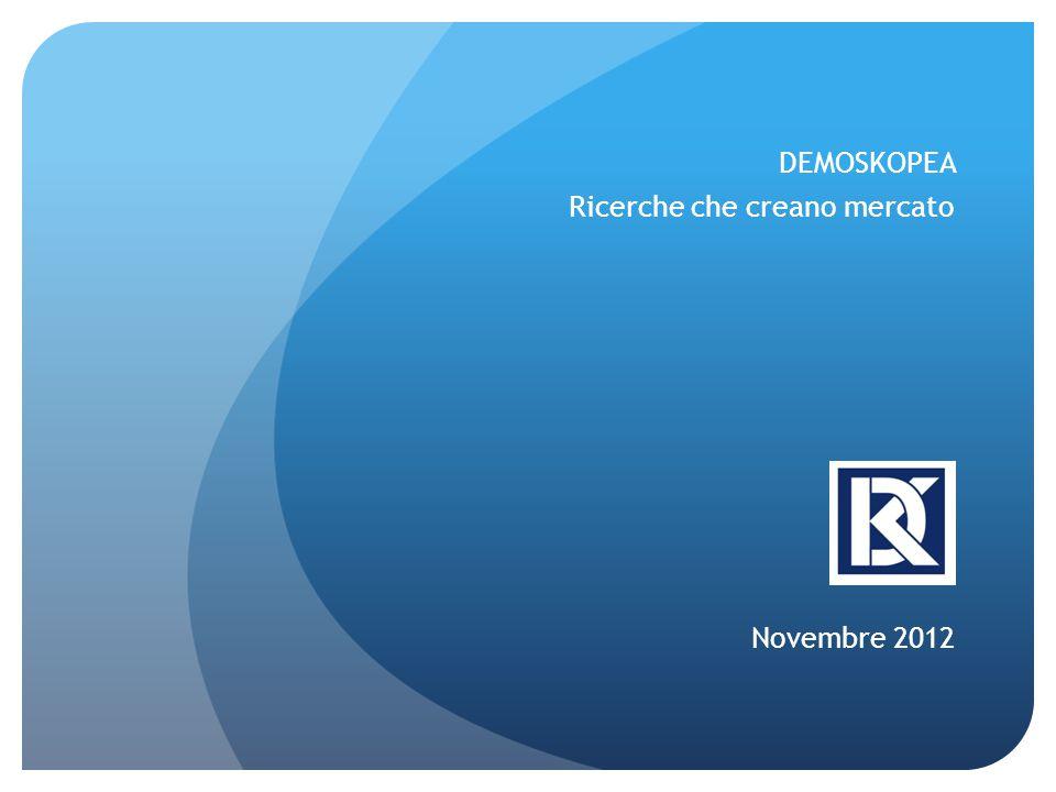 DEMOSKOPEA Ricerche che creano mercato Novembre 2012