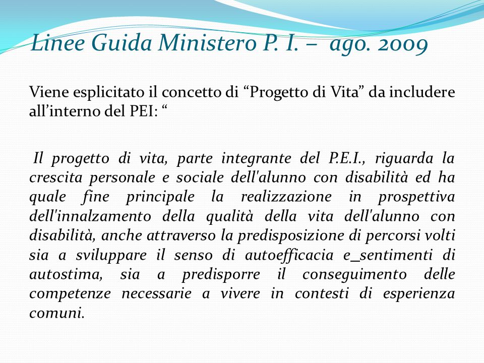Linee Guida Ministero P.I. – ago.