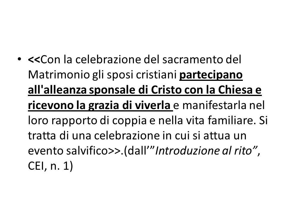 """>.(dall'""""Introduzione al rito"""", CEI, n. 1)"""