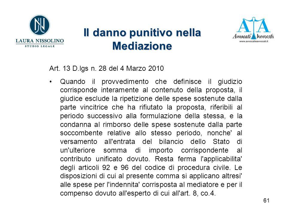 61 Art. 13 D.lgs n.