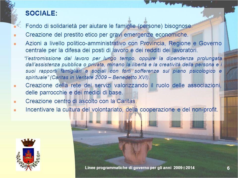 17 LA GIOSTRA DELLA ROCCA Sede definitiva in Cava della Rocca ; Individuazione ed assegnazione sede per le contrade; Lotteria (nazionale, locale o europea con gemellaggi per aumentare il finanziamento alle contrade).