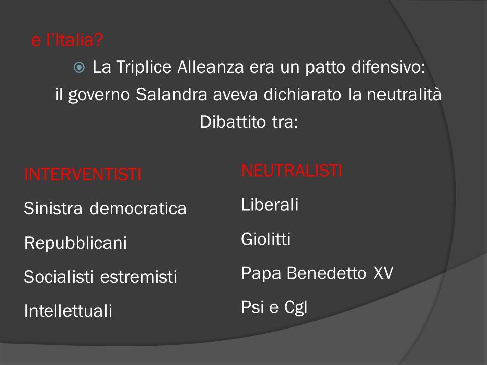 e l'Italia.