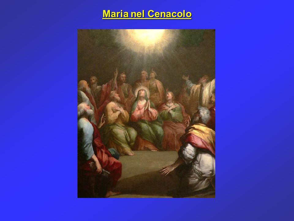 Maria nel cenacolo non segue più Gesù, ma appare in un certo modo come trasformata in Lui, come dice anche San Paolo: non sono più io che vivo, ma Cristo in me (Gal 2,20).