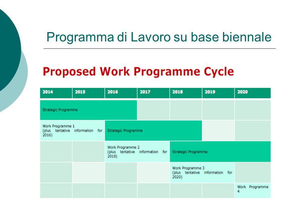 Programma di Lavoro su base biennale
