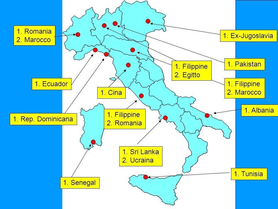 1. Romania 2. Marocco 1. Ecuador 1. Sri Lanka 2.