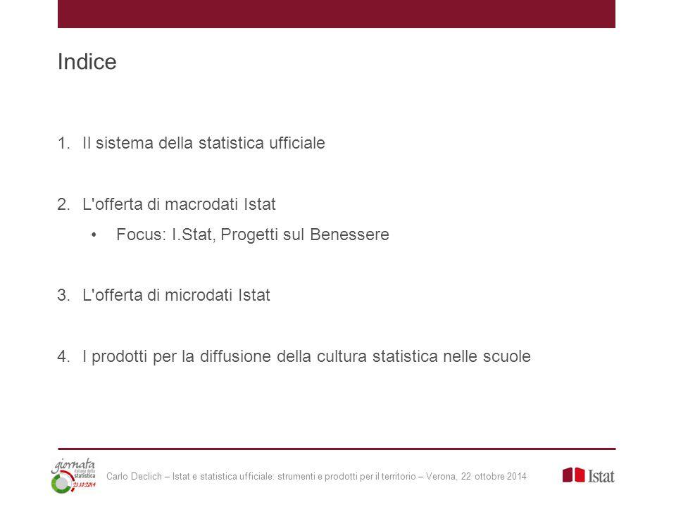 L offerta di dati: le banche dati dell'Istat Temi trasversali: - I.Stat - Serie storiche - Statistiche per le politiche di sviluppo - PubblicaAmministrazione.Stat …… Economia: - Coeweb - Rivaluta …..