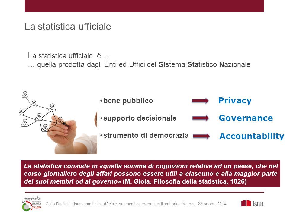 Sezione dedicata a un percorso didattico sotto forma di presentazioni che introducono ai concetti fondamentali di statistica descrittiva e alla statistica ufficiale.