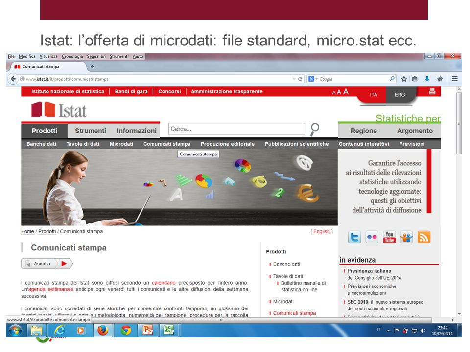 Istat: l'offerta di microdati: file standard, micro.stat ecc.