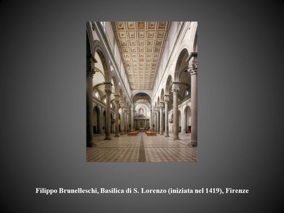 Filippo Brunelleschi, Basilica di S. Lorenzo (iniziata nel 1419), Firenze