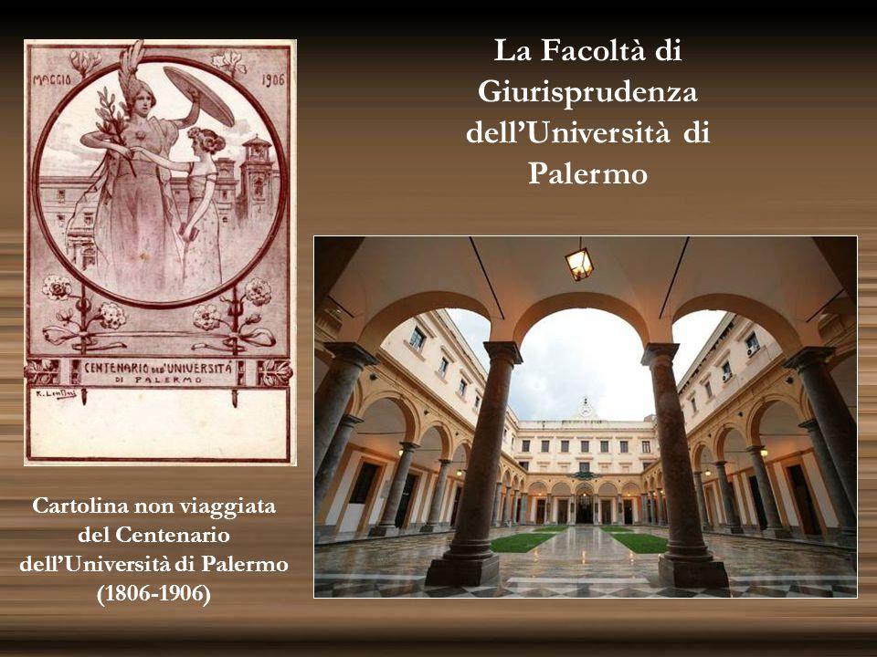 Cartolina non viaggiata del Centenario dell'Università di Palermo (1806-1906) La Facoltà di Giurisprudenza dell'Università di Palermo
