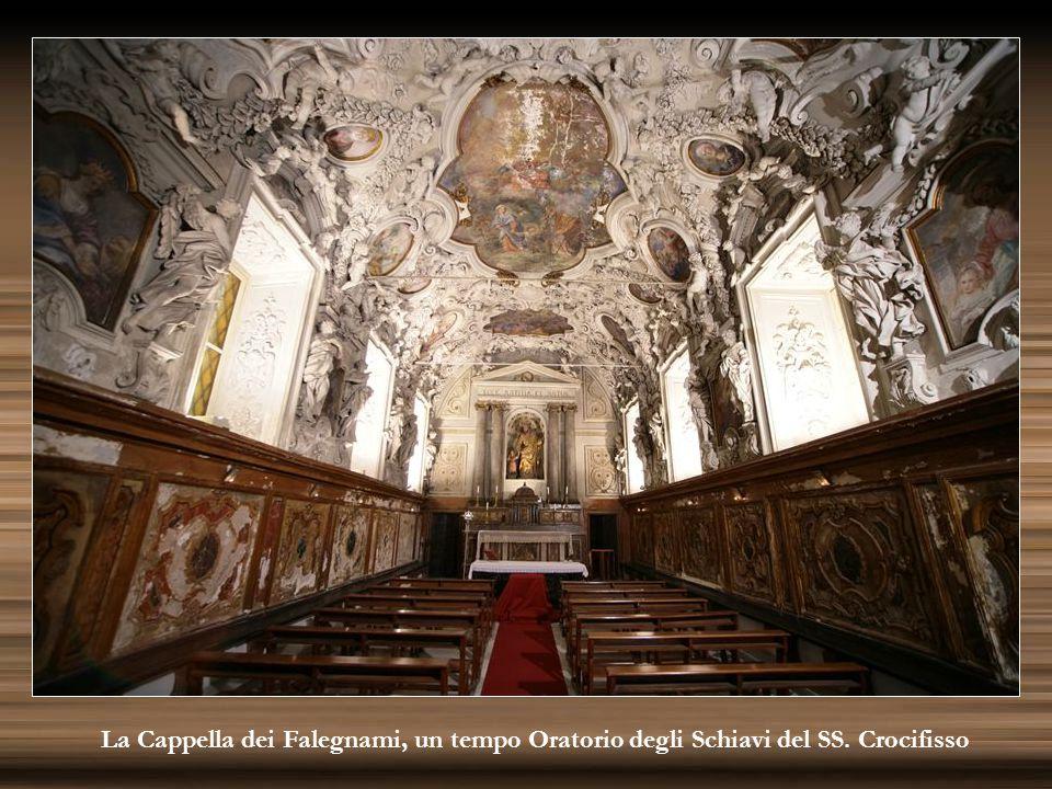 La Cappella dei Falegnami, un tempo Oratorio degli Schiavi del SS. Crocifisso