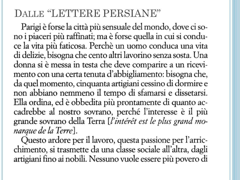 "D ALLE ""LETTERE PERSIANE"""