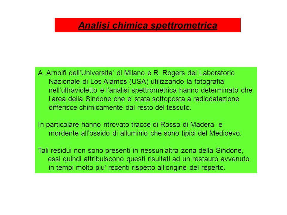 A. Arnolfi dell'Universita' di Milano e R.