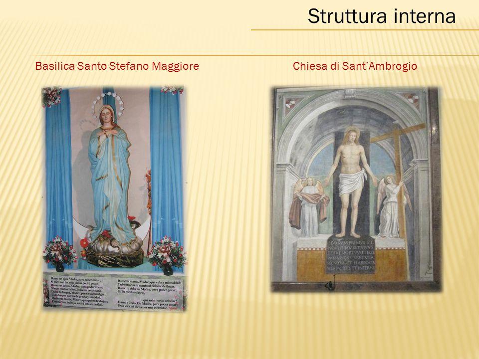 Basilica Santo Stefano MaggioreChiesa di Sant'Ambrogio Struttura interna
