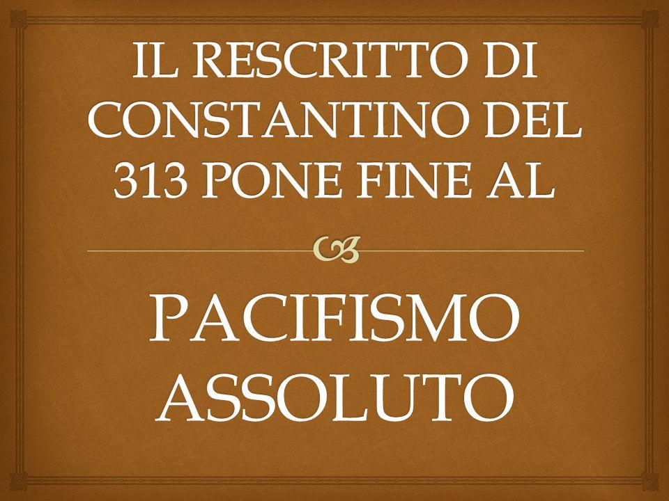  Il pacifismo si perpetua nella tradizione della Chiesa con san Francesco di Assisi il beato Charles de Foucauld.
