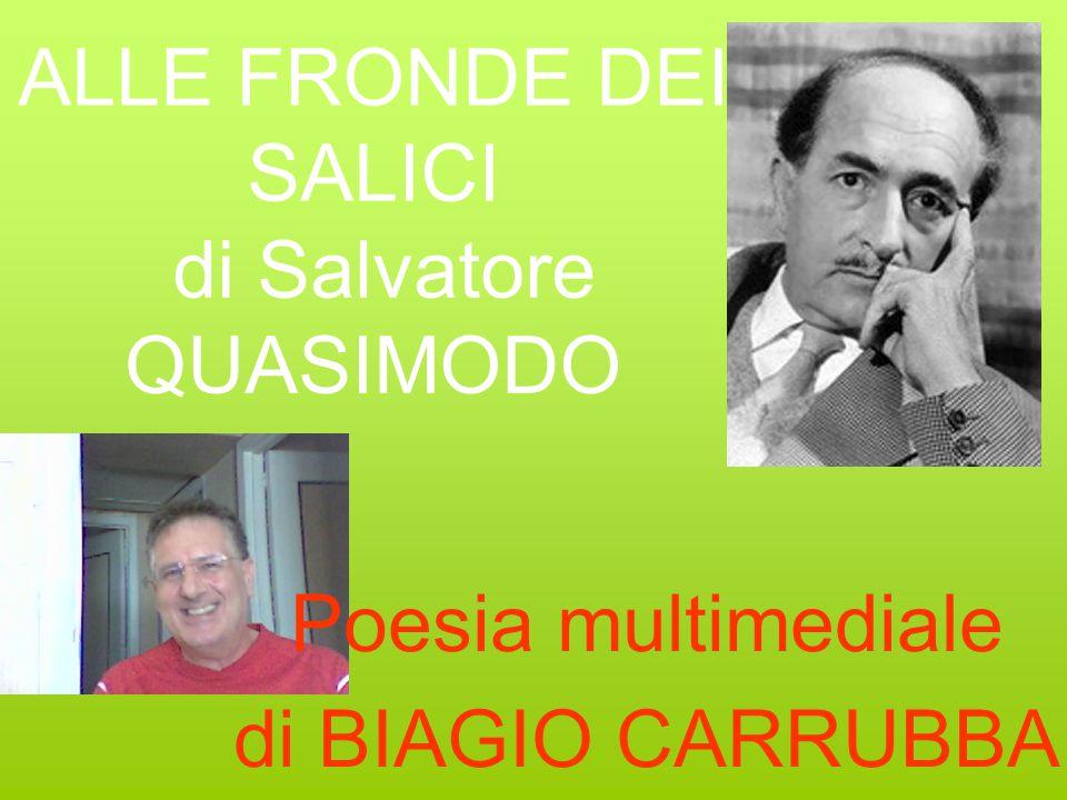 ALLE FRONDE DEI SALICI di Salvatore QUASIMODO Poesia multimediale di BIAGIO CARRUBBA