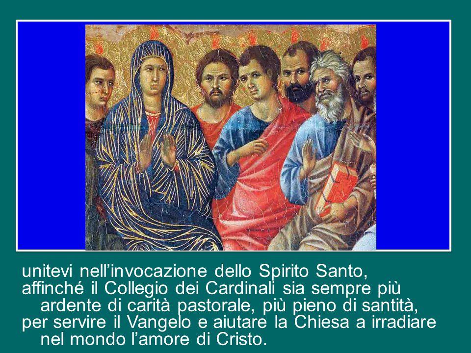 Cari Fratelli Cardinali, rimaniamo uniti in Cristo e tra di noi.