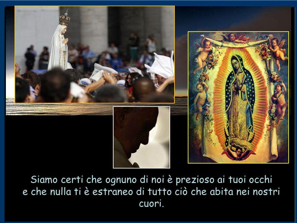Accogli con benevolenza di Madre l'atto di affidamento che oggi facciamo con fiducia, dinanzi a questa tua immagine a noi tanto cara.