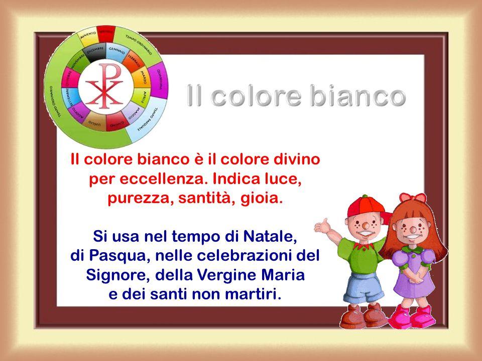 Il colore viola Il colore viola richiama penitenza, conversione, lutto. E' il colore dell'Avvento, della Quaresima e delle celebrazioni per i defunti