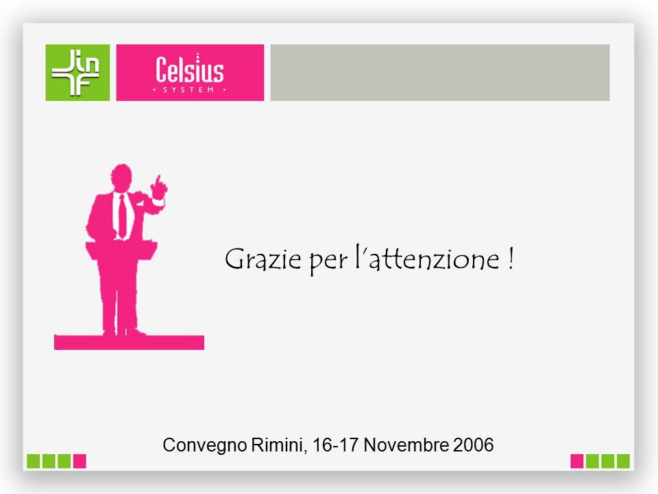 Grazie per l'attenzione ! Convegno Rimini, 16-17 Novembre 2006