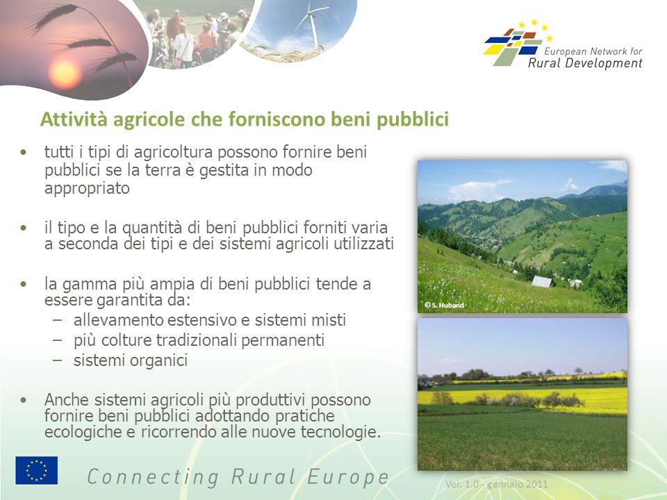 Attività agricole che forniscono beni pubblici tutti i tipi di agricoltura possono fornire beni pubblici se la terra è gestita in modo appropriato il